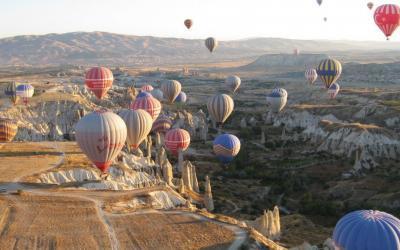 Kapadokya'da Gün Doğumunda