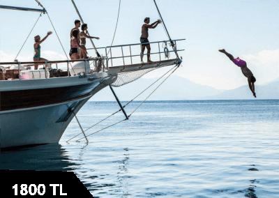 Bayramda Göcek Koylarında Tekne Turu